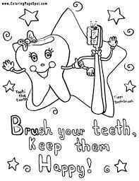 Small Picture Teeth Coloring Pages Brush Your Teeth Coloring Page Dental 3650