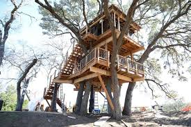 treehouse masters. A Western-themed Hidehout During Early Stages Of Its Construction In The Hill Country. Treehouse Masters I