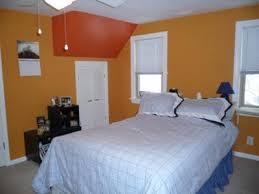 orange wall paintSponge Painted Bedroom Walls With Orange Accents