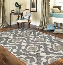 Amazon Rugshop Cozy Moroccan Trellis Indoor Shag Area Rug 7
