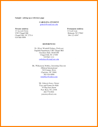 Reference Sheet Sample Resume Examples References Page Template