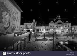 Der zentrale Platz von Miercurea-Ciuc (Csikszereda), Harghita Grafschaft,  Rumänien Stockfotografie - Alamy