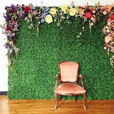 Paper Flower Photo Booth Backdrop Picture Of A Green Wall With Various Colorful Paper Flowers For A