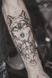 Image Result For Geometric Wolf Tattoos Tattoo Tetování