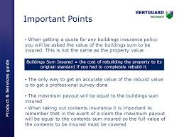 important points when getting a quote for any buildings insurance policy you will be asked the