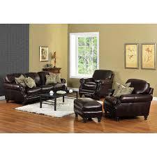living room with recliners. wayport 4-piece top grain leather living room set- with recliner recliners