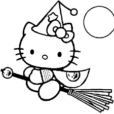 Coloriage De Hello Kitty Halloween Goshowmeenergy