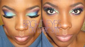 eye makeup for dark skin bright eyeshadow on dark skin tutorial tamekans you