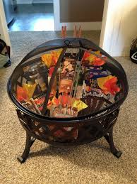 gift basket ideas auction idea house warming gift fire pit