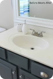 how to paint a small bathroom guest bathroom vanity painted with chalk paint jpg