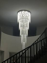 new design long modern crystal chandelier led light 5 layers luxury hotel lobby chandeliers