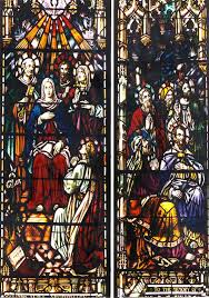 this window boldly depicts the incredible detail that can be achieved in the traditional art of glass painting and firing