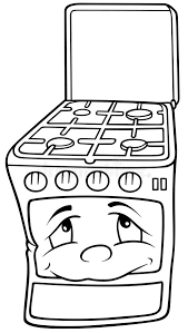 gas stove clipart black and white. download gas stove royalty free stock images - image: 17916229. black cartoon illustration white clipart and