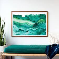 on wall art prints framed with undercurrent emerald ink framed art print ocean art surf