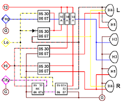 h4 h1 fog headlight relay wiring diagram a little overkill i always get carried away