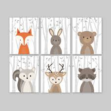 enjoyable inspiration ideas animal wall art room decorating fox nursery decor woodland forest zoom canvas stickers on nursery wall art nz with animal wall art turbid fo