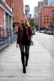 black hoo iro leather jacket otk boots chanel boy bag 1 of 9 1