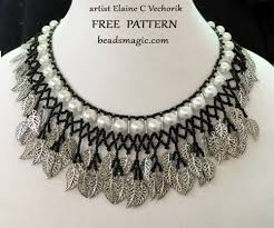 Beaded Necklace Patterns Delectable Necklace Pattern Beads Magic