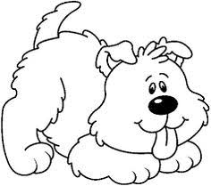 cute dog clipart black and white.  And Innocent White Dog Clipart Coloring Book Pages Dog To Cute Clipart Black And White U