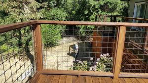Image Cattle Fence Thermally Modified Wood Ash Deck In Occidental With Wild Hog Wire Rail Instructables Thermalwood Snaptoit Ash Deck In Occidental With Wild Hog Wire