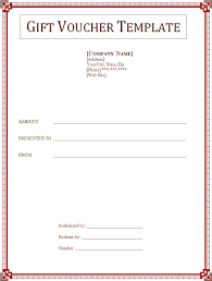 Word Templates For Gift Certificates 2 Best Gift Voucher Templates Free Word Templates Free Word