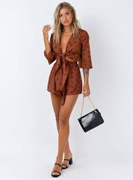 The Benson Playsuit Brown