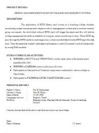 Resume Format For 3rd Year Engineering Students Resume Format