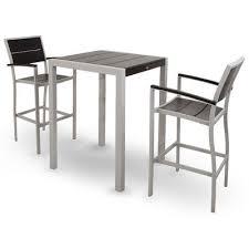 3 piece patio bar set. Plain Set Surf City 3 Piece Bar Height Dining Set Color Textured Silver  Charcoal  Black  Inside Patio W