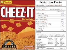 cheez it food label