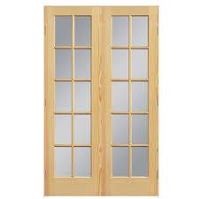 masonite prehung solid core 10 lite clear glass pine interior door common 48