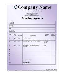 First Staff Meeting Agenda Sample Layout Doc Rsenterprises Co