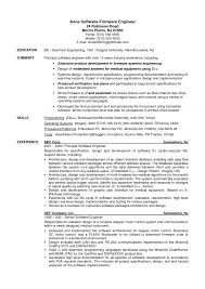 Software Engineer Resume Examples Entry Level Developer Mechanical