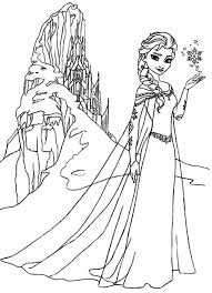 Small Picture Queen Elsa Amazing Ice Castle Coloring Pages Archives coloring page