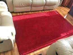 large red medium pile ikea rug