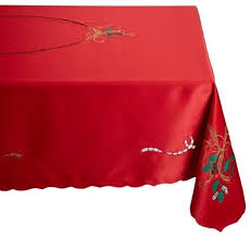 lenox holiday nouveau cutwork red 70 round tablecloth