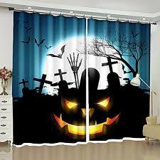 Halloween 3D <b>Curtains</b> Two Panels <b>Curtain</b> / Blackout / Bedroom ...