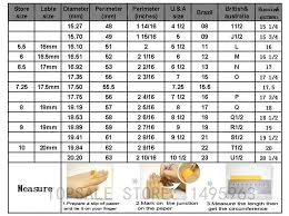 Italian Ring Size Chart Measure Ring Diameter Online Charts Collection