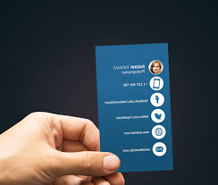 Facebook Logo For Business Card Business Card Template With Facebook And Twitter Logo Sm Vc
