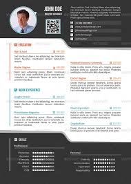 Simple One Page Resume Cv By Delimiter Graphicriver