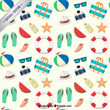 Summer Pattern Magnificent Summer Pattern With Beach Elements Vector Premium Download
