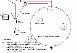 alternator wiring diagram alternator wiring diagram 66 mustang alternator wiring diagram internal regulator at Two Wire Alternator Wiring Diagram