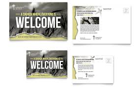 Postcard Template For Word Bible Church Postcard Template Word Publisher