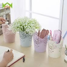 office planter boxes. WCIC Flower Pots Decorative Hollow Pencil Holder Makeup Barrels Box Office Organizer Stationery Pen Storage Basket Planter Boxes