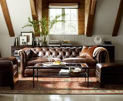chair blue leather chesterfield sofa elegant lazy boy style living room brown easy defeat coffe table carpet vases window couch slim large fabric single