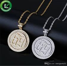 whole iced out pendant hip hop luxury designer jewelry mens diamond rapper 6ix9ine pendants for men women kids with rope chain rock fashion flower
