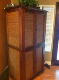pier 1 tv stand. Plain Stand 175 OBO Pier 1 Wicker U0026 Wood Armoire TV Stand Cabinet And Tv Stand A