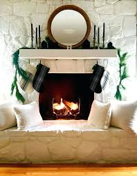 decoration an update on our painted stone fireplace stacked white