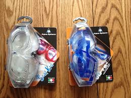 we were sent a pair of aqua sphere seal kid goggles and a pair of aqua sphere vista technology goggles when i opened the package i was shocked