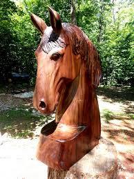 walnut wood sculpture horse arc 3