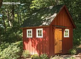 10x10 gable storage shed plans blueprints 00 draft design